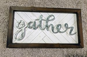 Gather Galvanized/Wood Sign for Sale in Riverview, FL