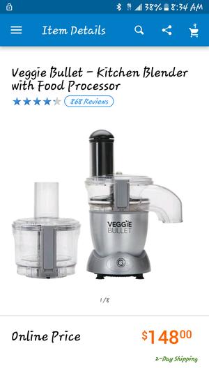 Veggie Bullet-Kitchen Blender with Food Processor for Sale in Las Vegas, NV