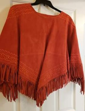 Newport leather poncho for Sale in Tomball, TX