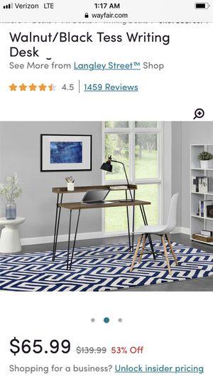 Tess Writing Desk - Walnut (colored) for Sale in Cincinnati, OH