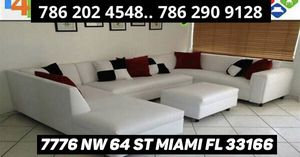 Shape U sectional couch sofa for Sale in Miami, FL