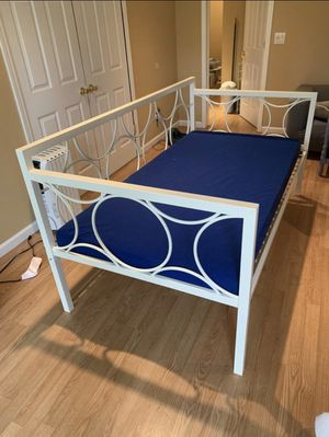 Twin Day Bed Frame and Mattress with Cover for Sale in Smyrna, GA