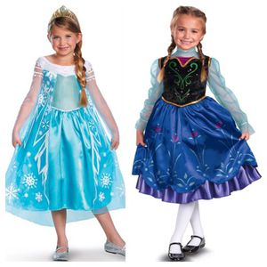 Frozen Elsa & Anna Dresses Size 7-8 Deluxe Costumes for Sale in Concord, MA