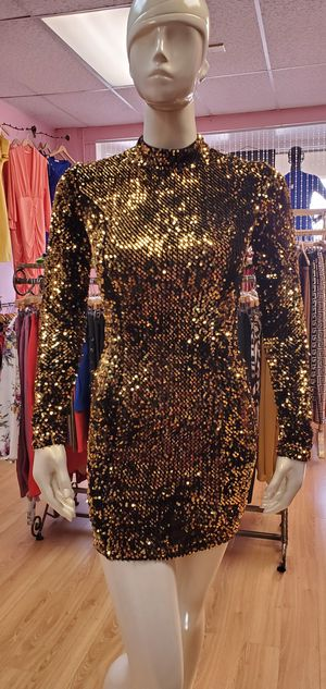 Gold Sequin Dress for Sale in Moreno Valley, CA