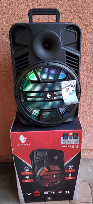 """New 12"""" woofers 8,000 watts, bluetooth, rechargeable, usb, fm, sd,remote control for Sale in Riverside, CA"""