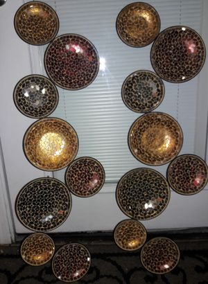 Colorful glass metal wall decor for Sale in Davenport, FL