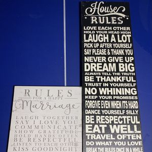 House/marriage Rules Canvas for Sale in Mountville, PA
