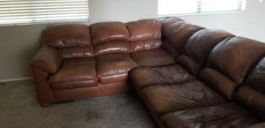 Creative Leather - Sectional (9' x 7') for Sale in Phoenix, AZ