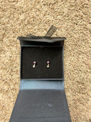 Tahitian FreshWater Black Peal necklace and earrings set for Sale in Santa Barbara, CA