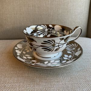 Royal Chelsea English Bone China Silver overlay Tea Cup & Saucer for Sale in Zephyrhills, FL