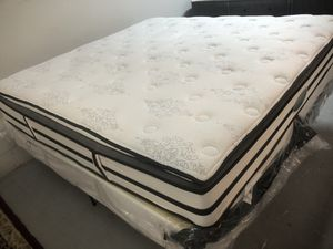 King size pillow top mattress and box spring for Sale in Garner, NC