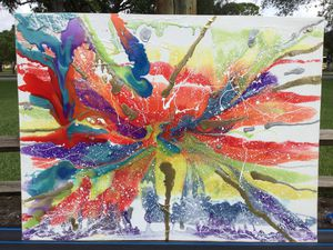 Chakra Explosion Abstract Art for Sale in Oakland Park, FL