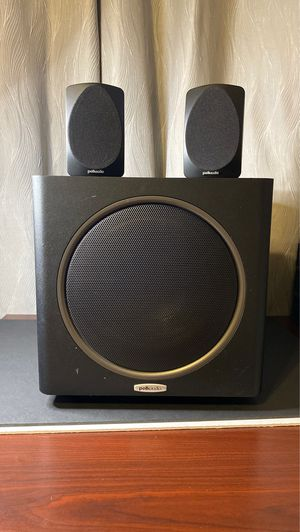 "Polk Audio PSW 110 powered subwoofer 10"" and RM6005 SAT 016784/5 speakers. for Sale in Ceres, CA"