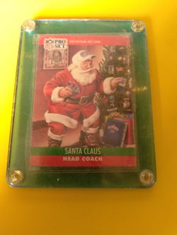 """NFL PRO SET 1990 """"Santa Clause"""" Collector Card for Sale in Salinas, CA"""