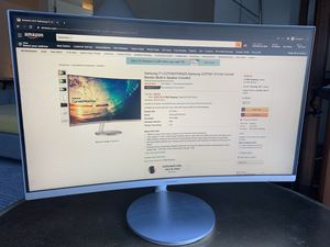 Samsung 27-Inch Curved 1080p Monitor (C27F591) for Sale in West Hollywood, CA