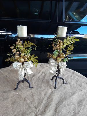 """Christmas candle holder 18""""h with candle for Sale in Fresno, CA"""