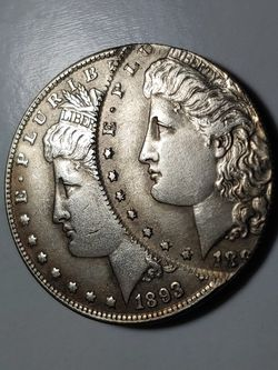 Rare (U.S. Novelaty-Collectable) W.Press-Error Coin//1893-S//64%-Silver/40.3×38.3×2.8 MM.-26.7 GR. for Sale in Brooklyn,  NY