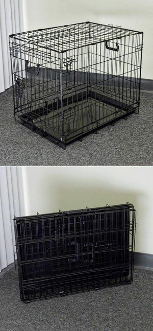 Brand new in box 30x19x21 Inches 2 Doors Pet Cage Dog Kennel Crate Foldable Portable collapsible for Sale in El Monte, CA