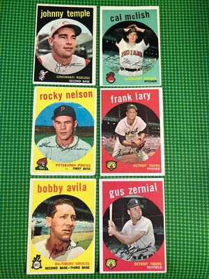 1959 Topps Vintage baseball card lot of 6 cards for Sale in Tampa, FL