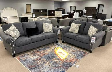 🤟ASHLEY Agleno Charcoal living room SET (sofa and loveseat) 💢💢 for Sale in Greenbelt,  MD