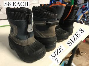 Kids snow boots and snow overalls for Sale in San Diego, CA