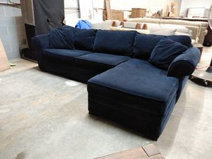 Duval 2pc Navy blue sectional sofa for Sale in Decatur, GA