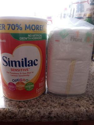 Similac Sensitive + 42 diapers for Sale in North Las Vegas, NV