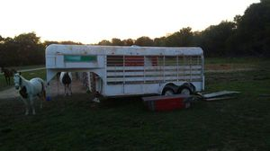 Gooseneck horse goat pig or stock trailer 16 foot for Sale in Burleson, TX