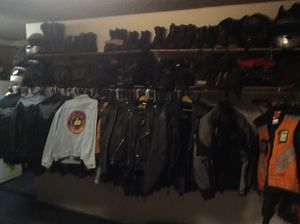 Motorcycle gear helmets jackets tank bags saddlebags boots chaps gloves etc. for Sale in Fullerton, CA