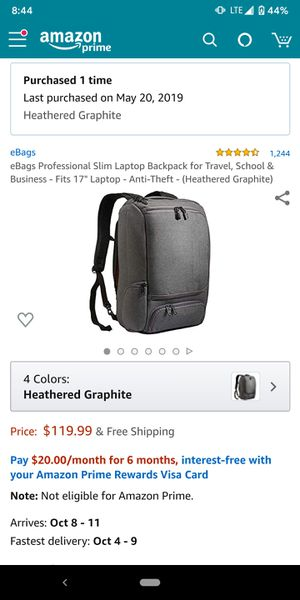 Ebags backpack for Sale in Los Angeles, CA