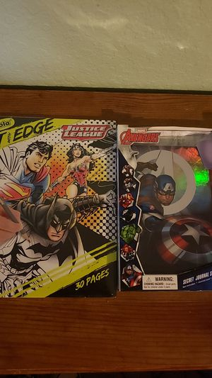 Marvel notebook and coloring book for Sale in Turlock, CA