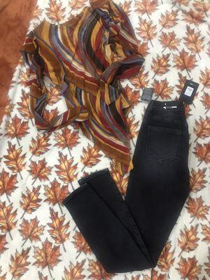 Jeans. Fashion nova/ celebrity /bodysuit / 26$ set for Sale in Carson, CA