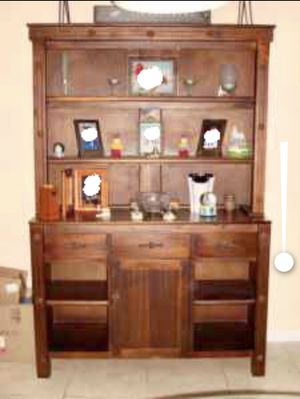 Antique country wood Cabinet, bookshelves, armoire, china for Sale in Homestead, FL