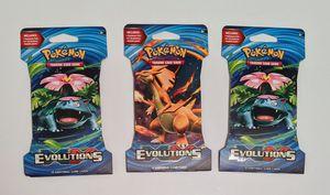 Pokemon evolutions 3x booster packs for Sale in Clifton, NJ