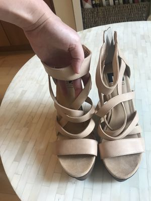 Tan wedges! Only worn one - size 8.5 for Sale in Washington, DC