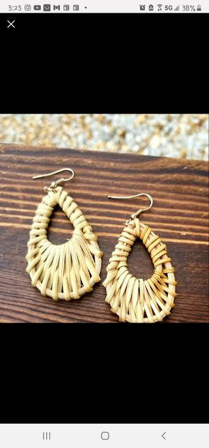 Bamboo Weave Dangle Drop Earrings for Sale in Fort Lauderdale, FL
