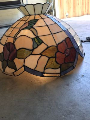 Stained glass chandelier/light for Sale in Whittier, CA