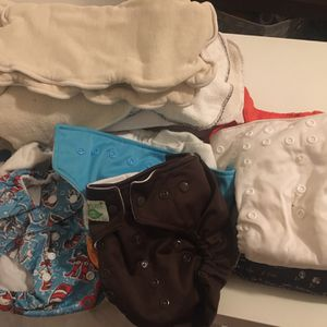 Cloth Diapers For Sale Plus a Bag Full of Inserts for Sale in Pomona, CA