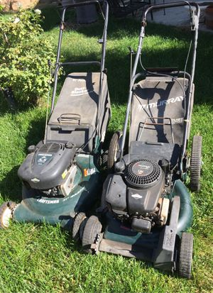 Craftsman, Murray mowers one works and the other one needs work for Sale in Highland, CA