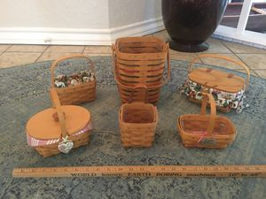 Vintage Longaberger Handmade Baskets for Sale in San Antonio, TX