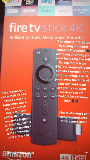Amazon Firesticks !!! 4K w/ alexa voice remote!!! for Sale in Antioch, CA