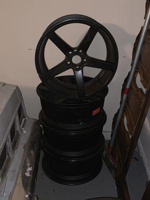 20 inch black rims for sale! 5 lug universal!No trades! $600 OBO! for Sale in Dallas, TX