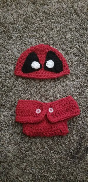 Crochet deadpool baby set for Sale in Cleveland, OH