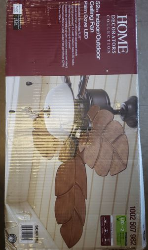Palm Cove 52 in. LED Indoor/Outdoor Natural Iron Ceiling Fan with Light Kit for Sale in North Las Vegas, NV