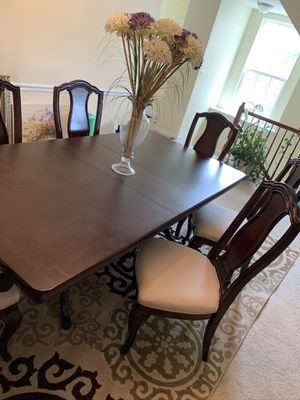 Cherry wood formal dining table & chairs for Sale in Capitol Heights, MD