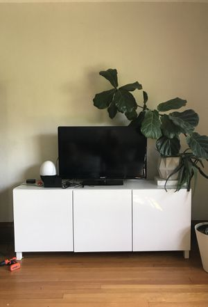 Modern White Console TV Media Center Buffet Table for Sale in Minneapolis, MN