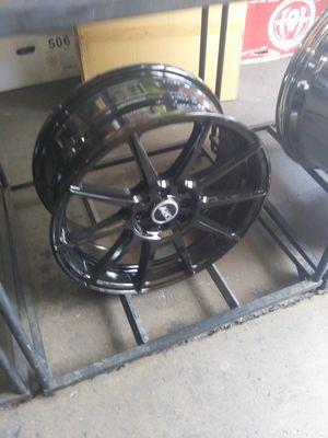 17 black rims 2254517 tire for Sale in Phoenix, AZ