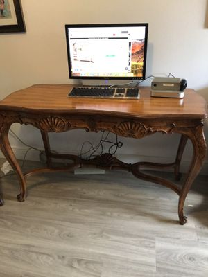 Antique Desk country French style and chair for Sale in Miami, FL
