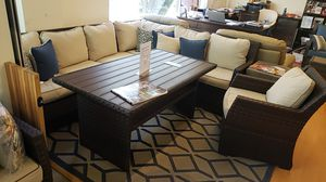 Brand New Patio Furniture Sectional with a club chair tax included and free delivery for Sale in Hayward, CA