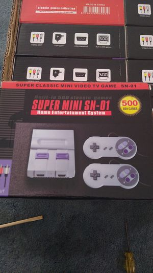 Mini super Nintendo with 500 built-in games and two controllers for Sale in Santa Clara, CA